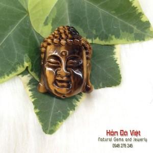 Mặt dây Phật tổ đá mắt hổ (MDMH00008)