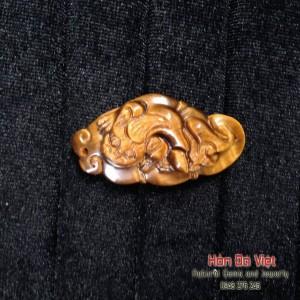 Mặt dây Tỳ hưu đá mắt hổ (MDMH00006)