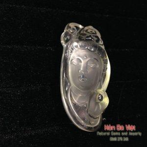 Mặt dây Phật Bà Thạch Anh Trắng (MDTAT00029)
