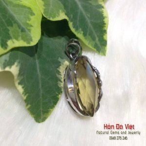 Mặt Dây Thạch Anh Vàng Bọc Bạc ( MDTAV02051 )