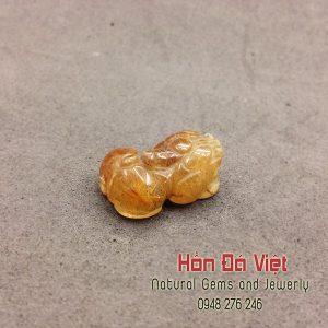 Mặt Dây Tỳ Hưu Thạch Anh Tóc Vàng ( MDTATV00073 )