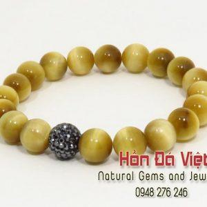 Vòng Tay Đá Mặt Hổ Vàng ( VTMHV12075 )