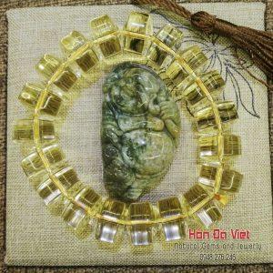Vòng Tay Thạch Anh Vàng (VTTAV14090)