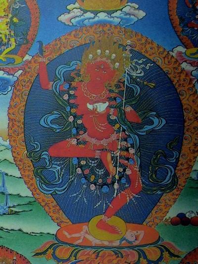 Bức tranh Đức Phật Buddha ở Tibetan Tangka
