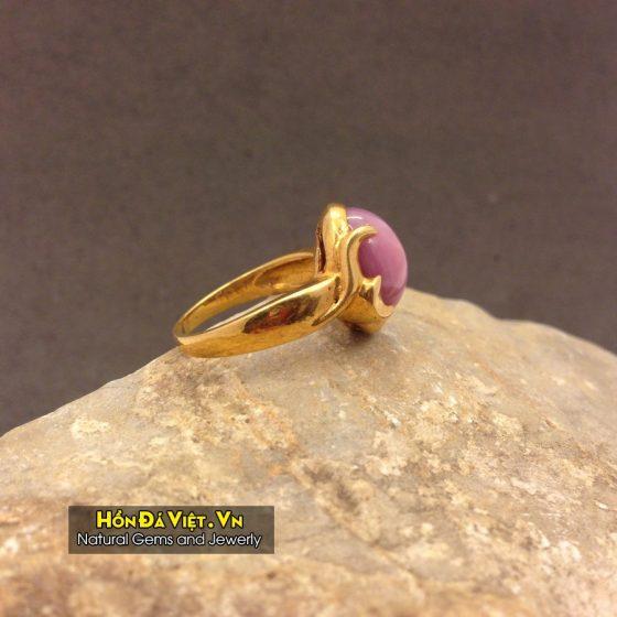 Nhẫn đá Ruby vàng 10k (NRB01001)