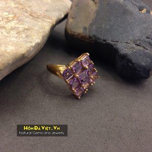Nhẫn Thạch Anh Tím vàng 10k (NTAT01002)