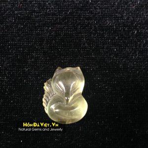 Mặt Dây Hồ Ly Thạch Anh Vàng (MDTAV00119)