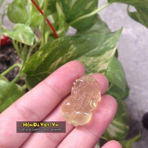 Mặt Dây Tỳ Hưu Thạch Anh Vàng (MDTAV00123)