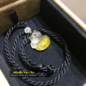 Mặt Dây Hồ Ly Thạch Anh Tóc Vàng (MDTATV00134)