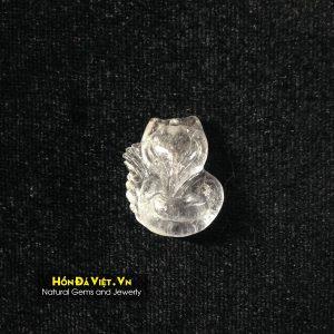 Mặt Dây Hồ Ly Tinh Thạch Anh Trắng (MDTAT00127)