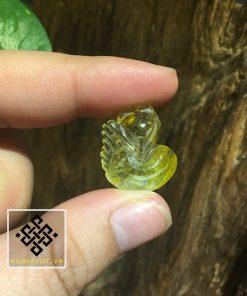 Mặt Dây Hồ Ly Thạch Anh Tóc Vàng Giá Rẻ (MDTATV00142) - 1